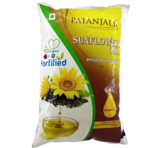 Patanjali Sunflower Oil Pouch, 1L