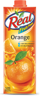 Real Juice - Fruit Power, Orange/Santra, 1l