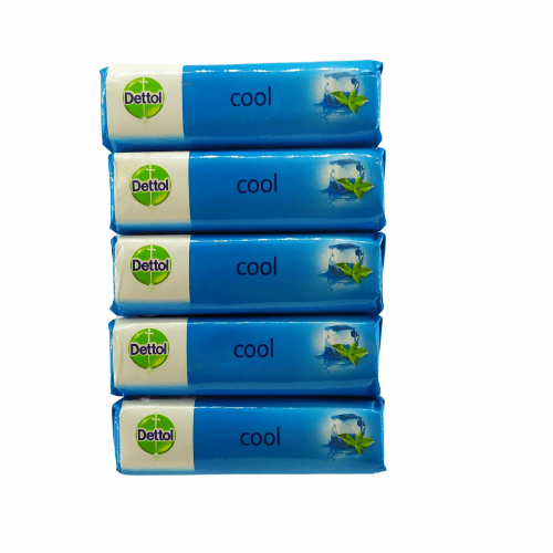 Dettol Cool Soap, 125g (Buy 4 + Get 1 Free of 125g Cool Soap)