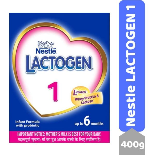 Nestle LACTOGEN 1 Infant Formula Powder - Upto 6 months, Stage 1, 400g