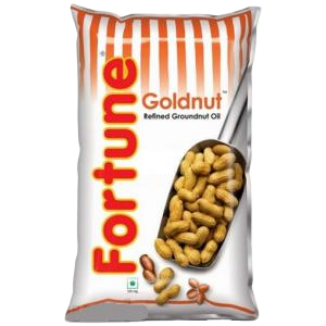 Fortune Cooking Oil Refined Groundnut Oil Pouch- 1L