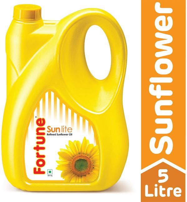 Fortune Sunlite Refined Sunflower Oil - 5L