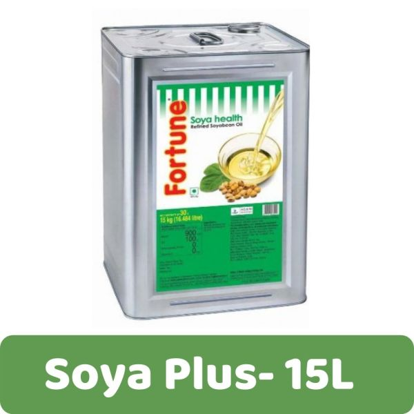 Fortune Soya Plus Soya Bean Oil, Refined - 15L