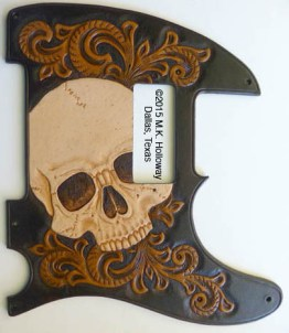 Big Skull tele pickguard with mini humbucker