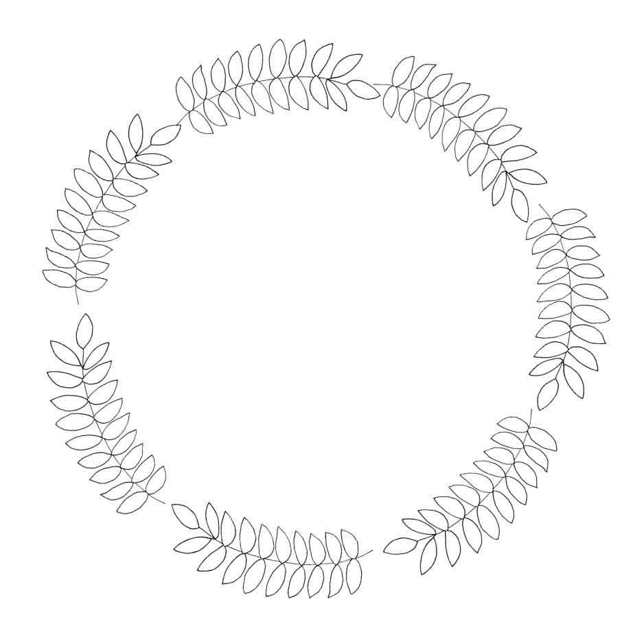 create a digital wreath