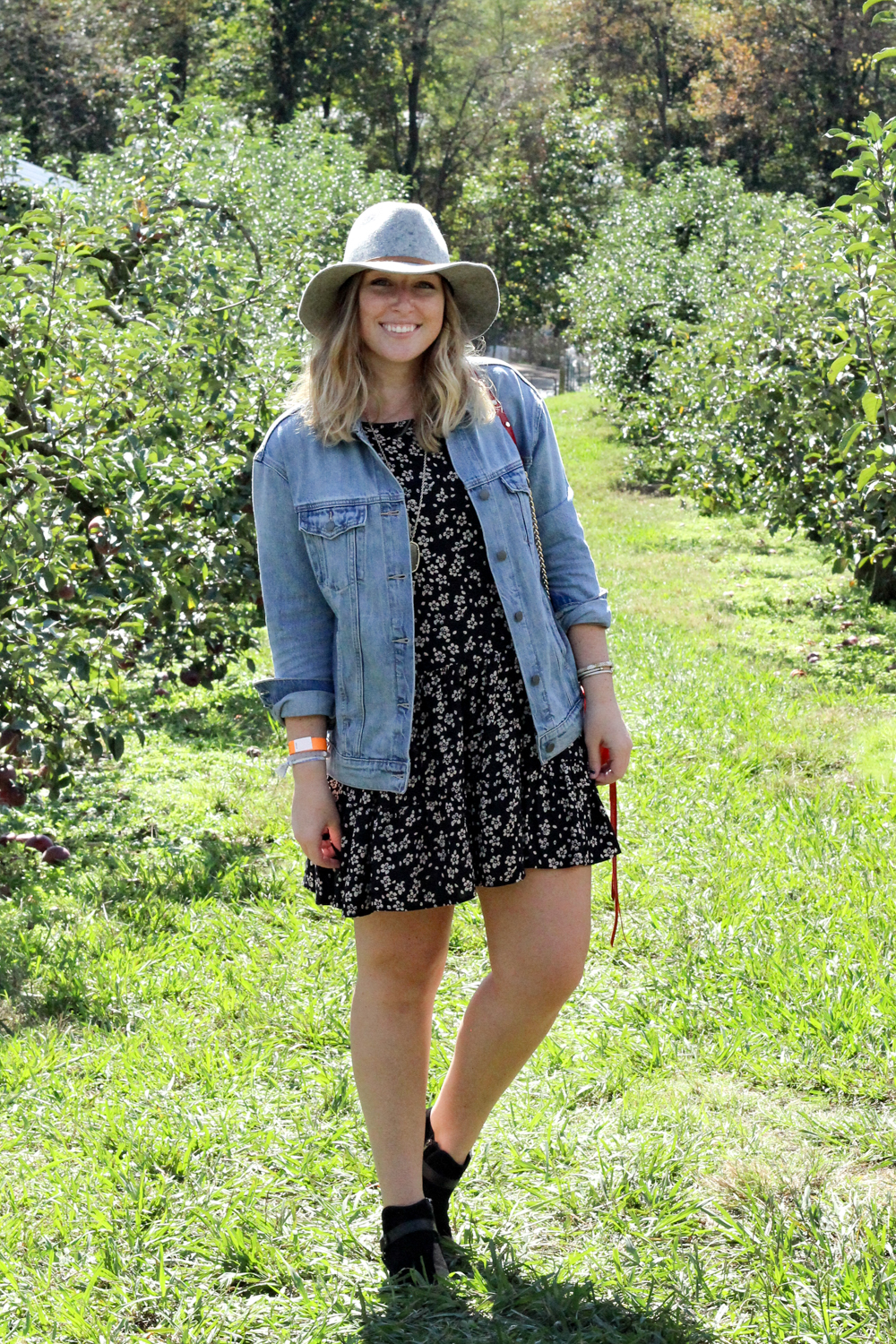 Fall Denim Jacket Outfit   Just Peachy Blog