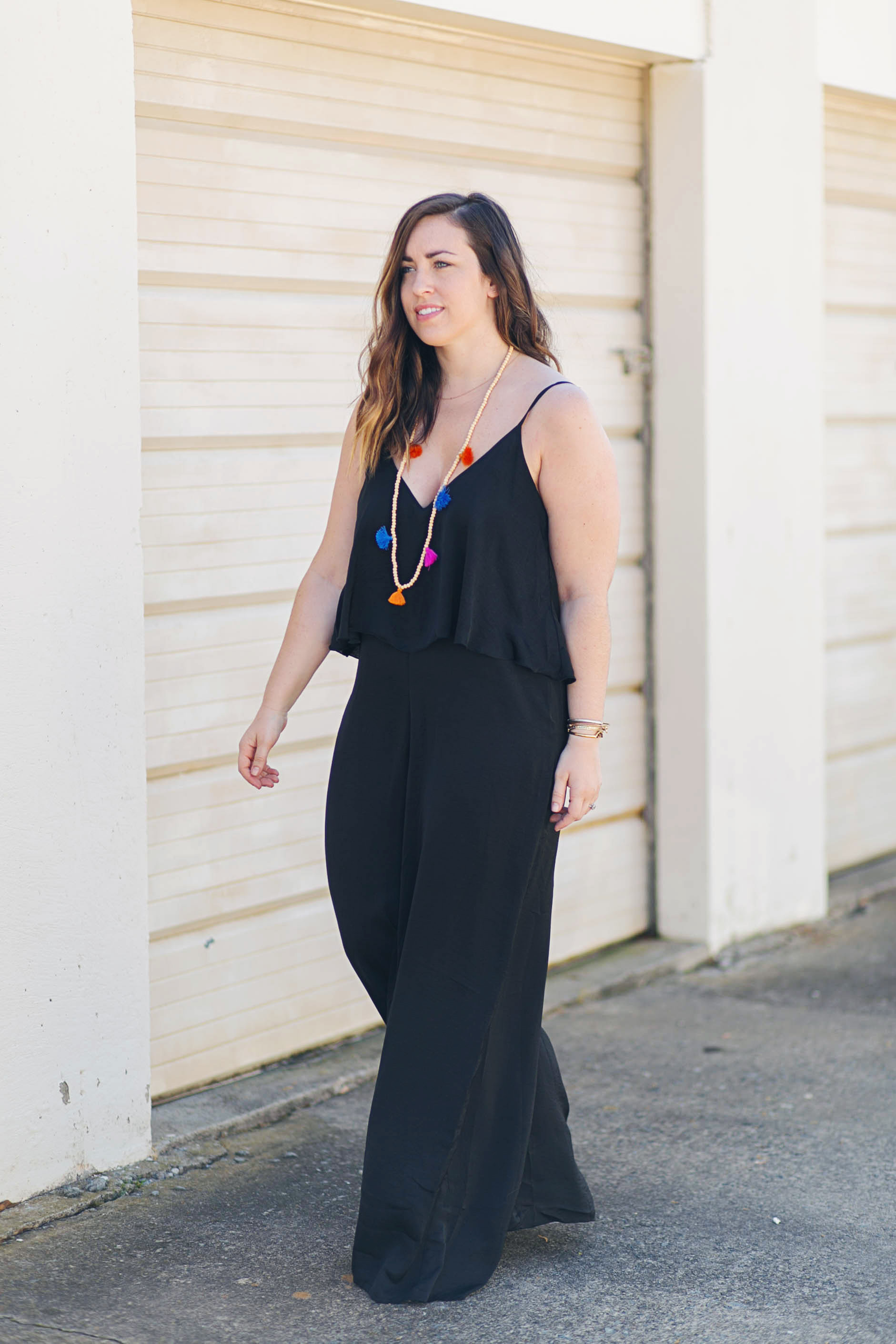 Black Pantsuit | Just Peachy Blog