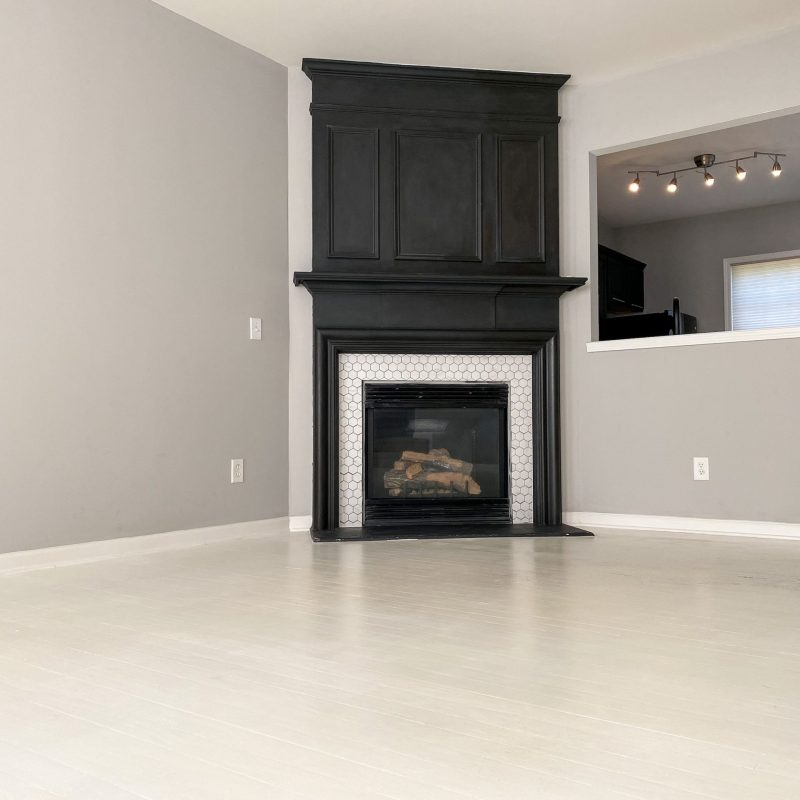 White Painted Hardwood Floors | Just Peachy Blog