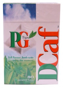 PG Tips Decaf for those that need caffeine-free.