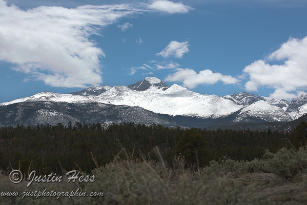 Meeker and Longs Peak from the Upper Beaver Meadows Road - Rocky Mountain National Park.  *HDR
