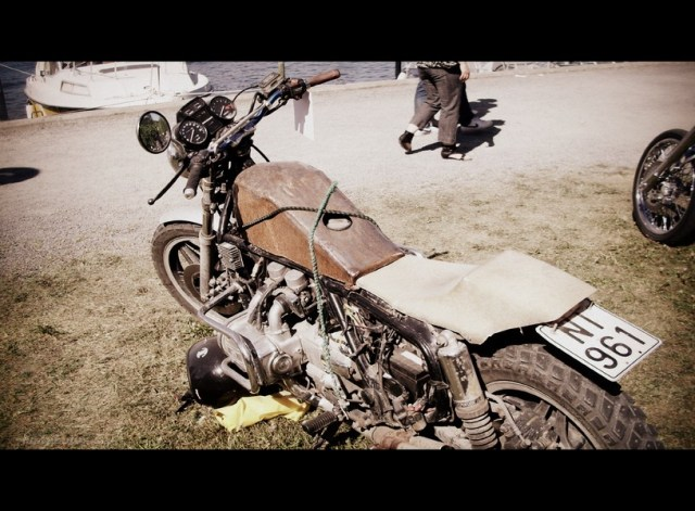 A old bike on Custom bike show in Norrtälje 2011