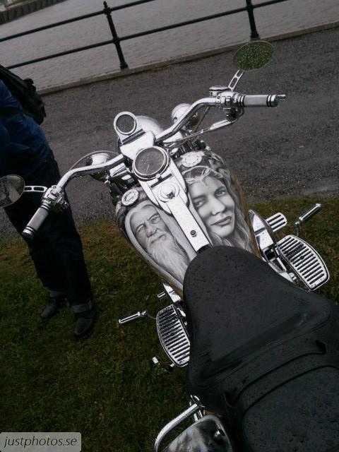 The Lord of the Rings bike custom bike show in sweden 2012