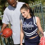 First pic of A cheerleader only has eyes for big black cock
