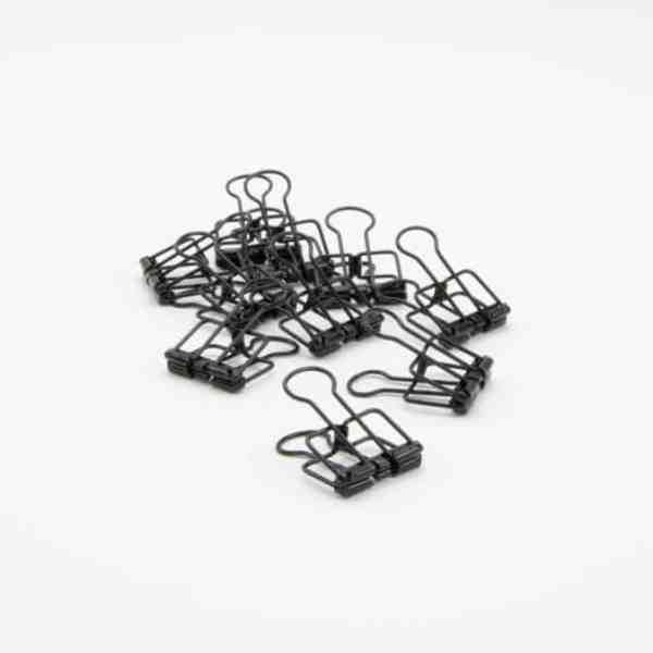 Afwerking - metalen clips zwart 4 x 19 cm