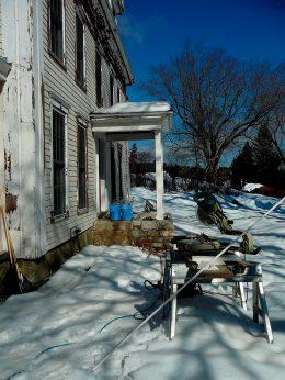 Installing granite porch
