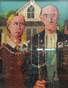 A Jelly Belly rendition of Grant Wood's American Gothic. It took 150 days to create.