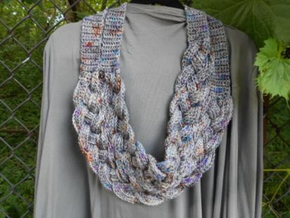 Double Layered Braided Cowl - Crocheted