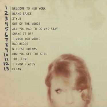 Taylor Swift 1989 Full Tracklisting