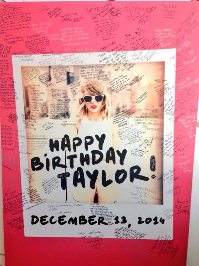 December 13, 2014 was Taylor Swift's 25th birthday, and Swifties left a wish for at The Taylor Swift Experience