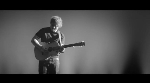 "Ed Sheeran performing ""One"" live and acoustic in Wembley Arena"