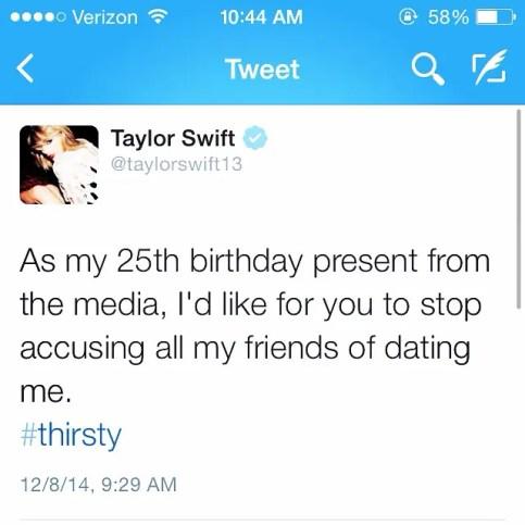 Taylor Swift's Birthday wish