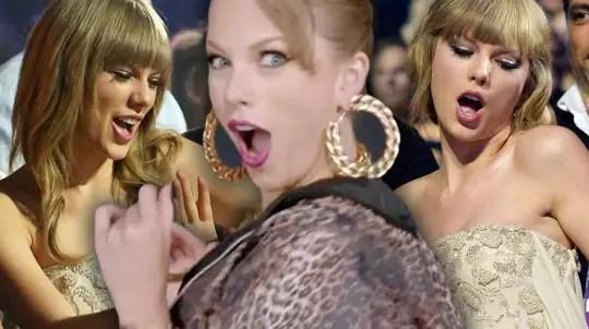 Taylor Swift awkward dance at Grammy Museum