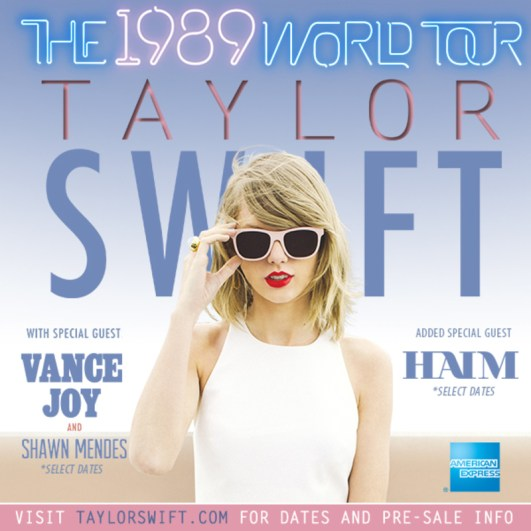 HAIM joins Taylor Swift's The 1989 world tour