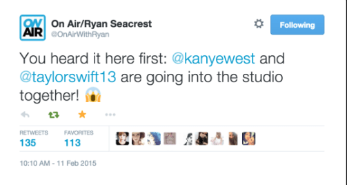 kanye west talks about making music with taylor swift