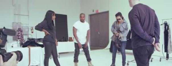 """FourFiveSeocnds"" music video behind the scenes"