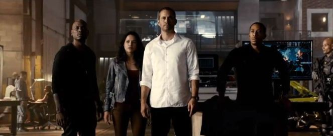 paul walker and the cast in see you again music video