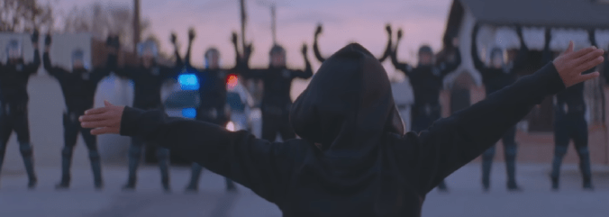 """Formation"" music video referencing to Ferguson brutality incident in 2015."