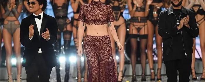 bruno mars 24k magic lady gaga the weeknd starboy victoria's secret fashion show 2016