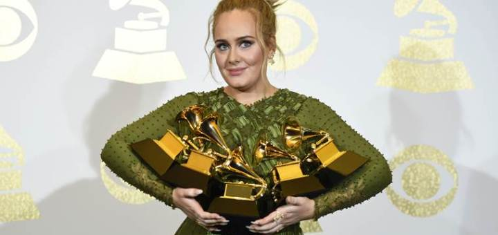 grammy awards 2017 adele list of winners