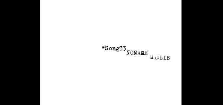 noname song 33