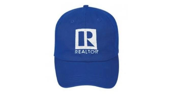 Blue Realtor Logo Hat - Just Real Estate Marketing