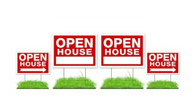 Open House Sign - Contact Just Real Estate Marketing