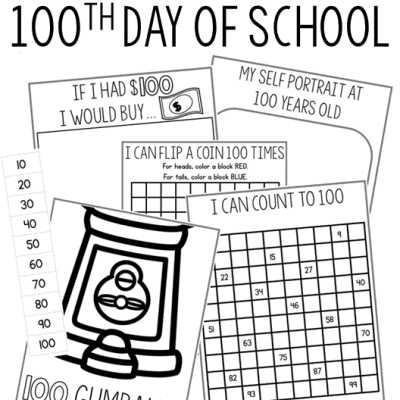 100th Day of School FREEBIES and IDEAS