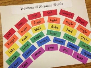 http://alove4teaching.blogspot.com/2012/04/rainbow-of-rhyming-words.html