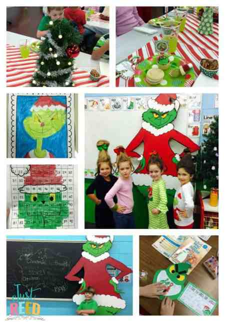 grinch day collage