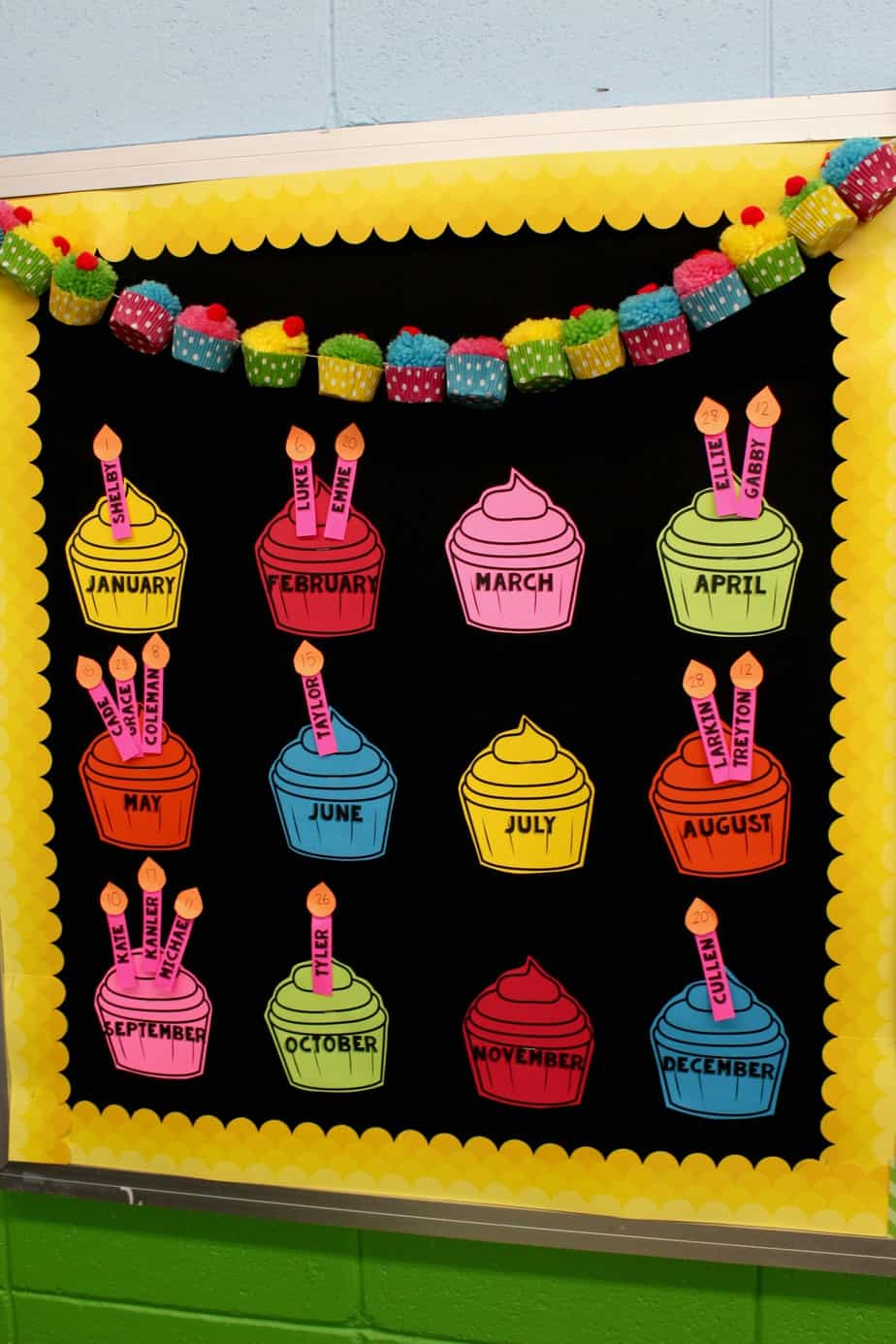 The best birthday board just reed for Birthday bulletin board templates