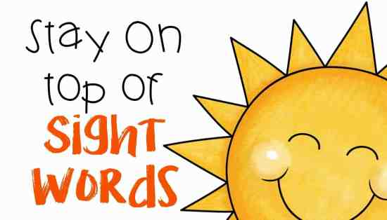 stay on top of sight words