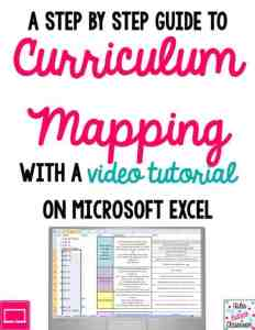 excel curriculum mapping