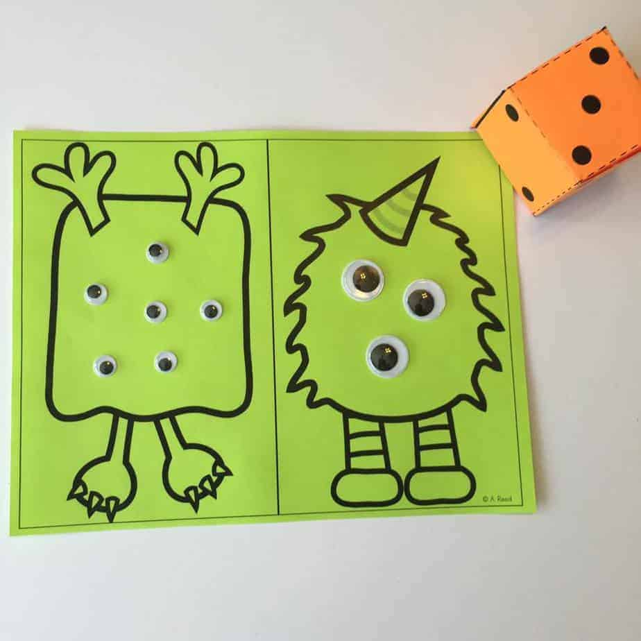 Dollar Store Math: Halloween Centers - Just Reed