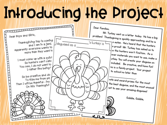 Thanksgiving Turkey in Disguise Project