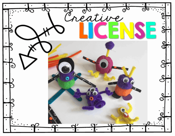 This FREEBIE will have your kiddos entertained for hours! Let them Build a Monster using dollar store trinkets...then write about their monster!