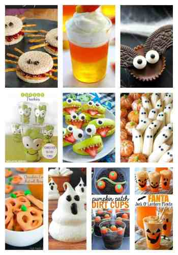 These ten fabulous Halloween snacks are sure to be kid pleasers!  Who doesn't love pumpkins, candy corn, ghosts, bats, and more?