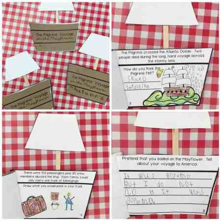 This print and go Mayflower book craft is perfect for Thanksgiving. Each page features nonfiction text along with a change for students to respond and engage with the text