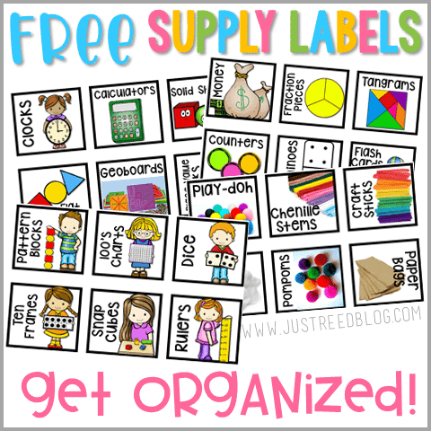 Grab these FREE supply labels to help you get and stay organized!