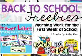 FREEBIE Frenzy! Back to School Freebies!