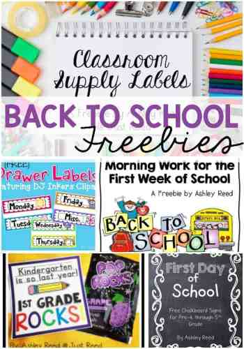 Tons of back to school freebies to keep you organized and excited for a new year!